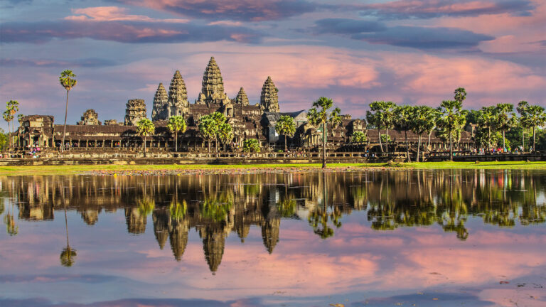 Angkor Wat with amazing sky